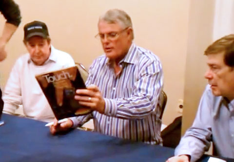 Photo shows Lou Piniella autograph signing in 2012.