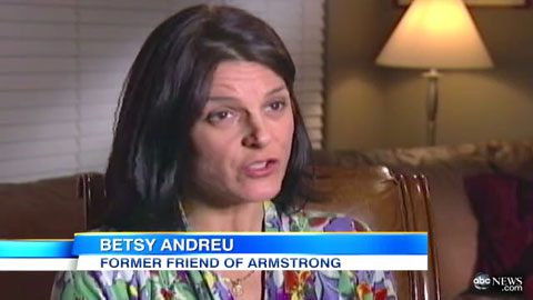 Betsy Andreu and her husband were close friends of Armstrong's for years before being attacked by Armstrong for refusing to lie.