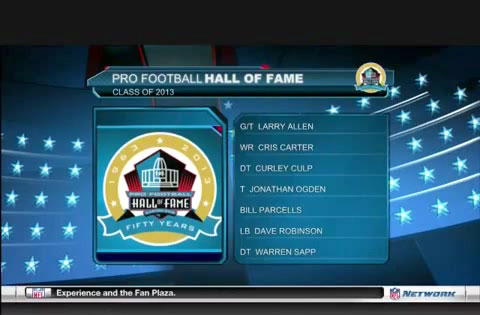 Pro Football Hall of Fame Class of 2013 Announcement February 2, 2013 in New Orleans