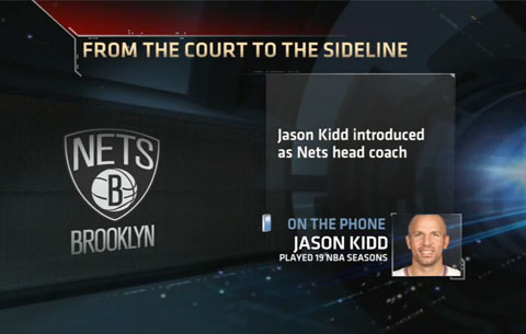 Former NBA point guard, Jason Kidd, is named the Brooklyn Nets head coach on June 12, 2013.