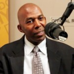 Photo shows former NBA star and inspirational speaker, Thurl Bailey in a 2012 interview, speaking about his life's purpose.